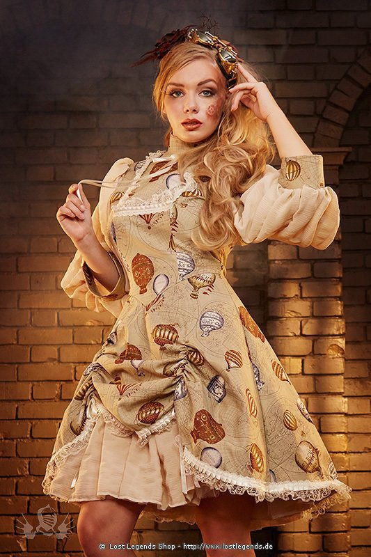 balloon doll dress steampunk kleid kleider. Black Bedroom Furniture Sets. Home Design Ideas