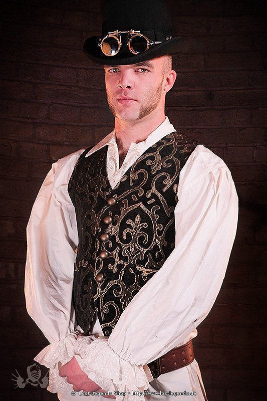 brocade vest steampunk weste westen shrugs. Black Bedroom Furniture Sets. Home Design Ideas