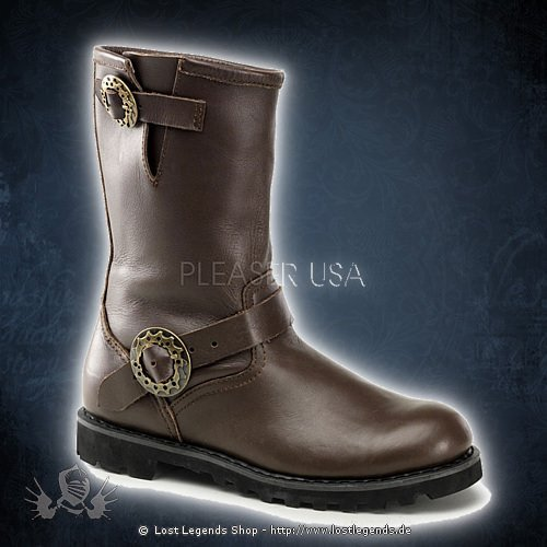 demonia steam engineer boot brown stiefel. Black Bedroom Furniture Sets. Home Design Ideas