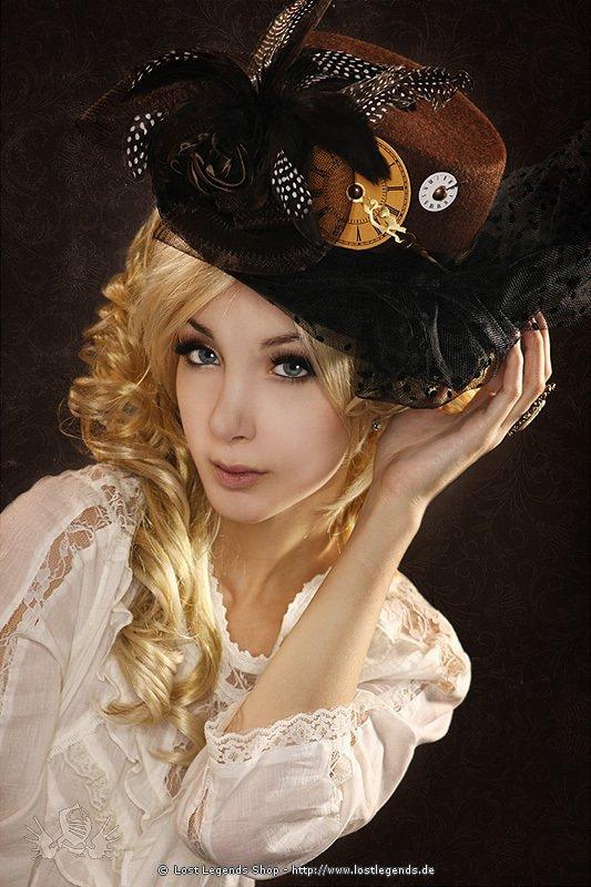 Steampunk Damenhut mit Verzierung