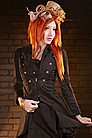 Golden Steam Cabaret Steampunk Jacke