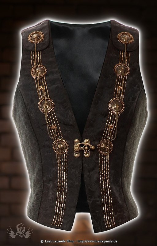 steampunk waist coat brokat weste. Black Bedroom Furniture Sets. Home Design Ideas