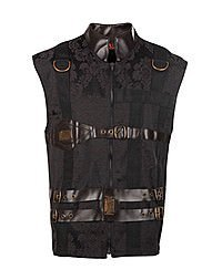 Aderlass Chase Steam Vest Brocade, Black