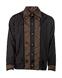 Aderlass Gentry Steampunk Shirt  Brocade Brown