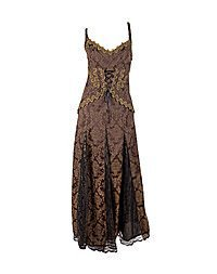 Aderlass Steampunk Dress Brocade, Brown