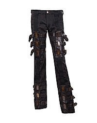 Aderlass Steampunk Pants Brocade, Black