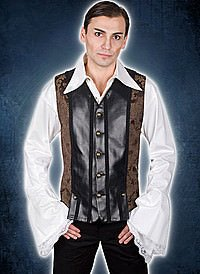 Aderlass Victorian Steampunk Vest Brown