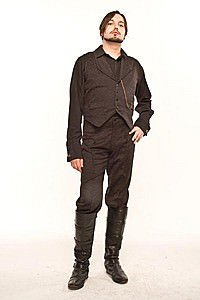 Brocade Collar Steampunk Waistcoat