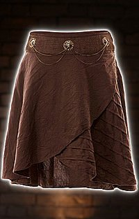Brown Cabric Skirt Steampunk Rock