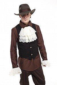 Canvas Skull Button Steampunk Waistcoat