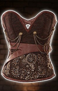 Clockwork Brocade Steampunk Korsett