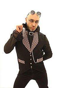 Crest Trim Canvas Chain Steampunk Waistcoat