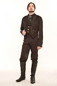 Duke Quilted Collar  Steampunk Waistcoat