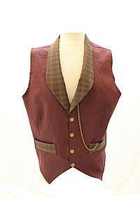 Edward Plain Waistcoat Steampunk Vest