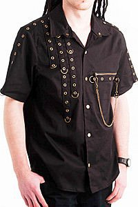 Golden Steam Anarchy D-Ring Shirt Steampunk Hemd