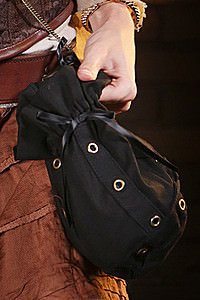Golden Steam Eyelet Bag Steampunk Beutel