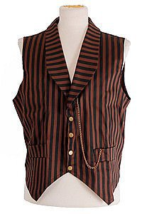 Golden Steam Striped Steampunk Waistcoat