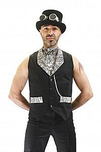 Letitia Black Canvas Waistcoat Steampunk Vest
