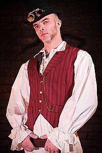 Pinstripe Steam Waistcoat Steampunk Weste