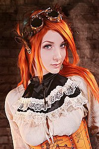 Steampunk Halsband Golden Steam Ruffle Key Collar