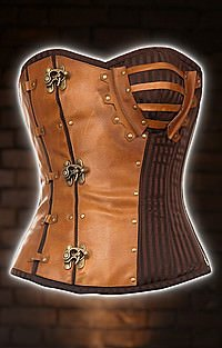 Steampunk Korsett Stripe & Leather