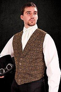 Steampunk Vest Brocade
