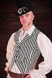 Steampunk Weste Josie Stripe Waistcoat