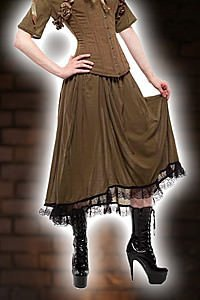 Verne Steam Flare Skirt Steampunk Rock