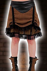 Verne Steam Short Rouched Skirt Steampunk Rock