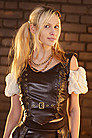 Aggy Leather Look Steampunk Top