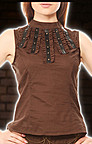 Band Collar Steampunk Top