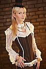 Emporiyum Stripe Trim Steampunk Top