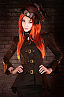 Golden Steam Buckle Blouse Steampunk Bluse
