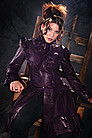 Lolita Steampunk Jacket Leder, Lila