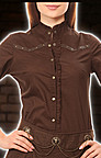 Steampunk Bluse Braun