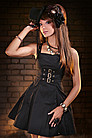 Steampunk Kleid Golden Steam Buckle Dress