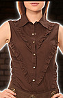 Steampunk Rschenbluse rmellos