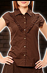 Steampunk Rschenbluse braun
