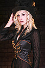 Steampunk Tailcoat Korsett, Leder