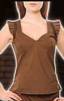 Sweet Heart Neck Steampunk Top