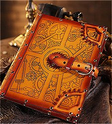 Steampunk iPad Leder